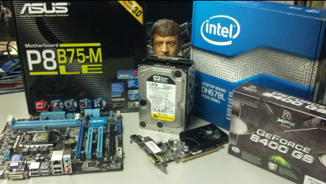 Intel processors, hard drives, motherboard, video cards and Computer accessories